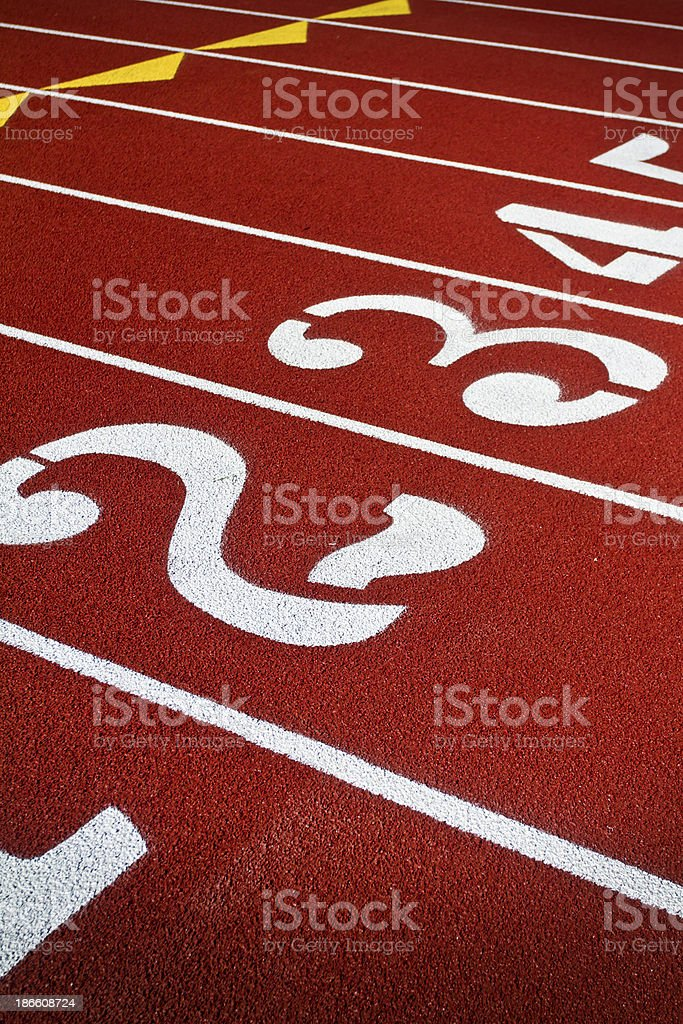 Track Starting Numbers royalty-free stock photo
