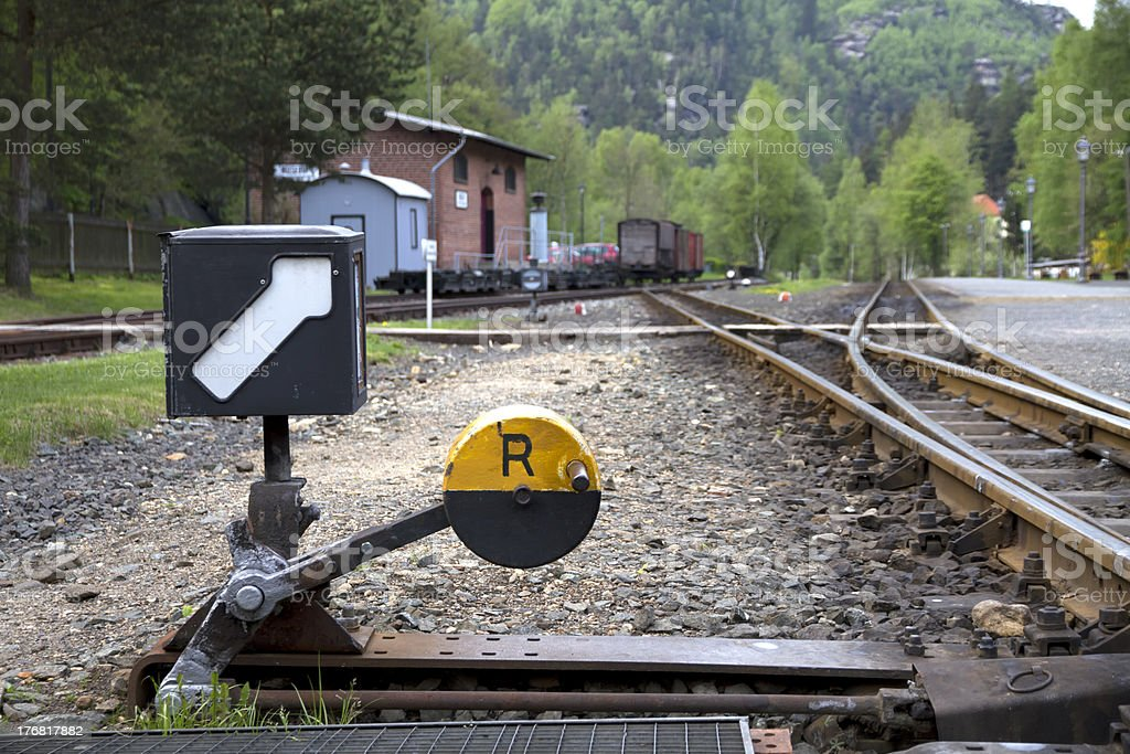 Track Switch royalty-free stock photo