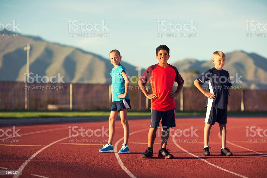 Track Team stock photo