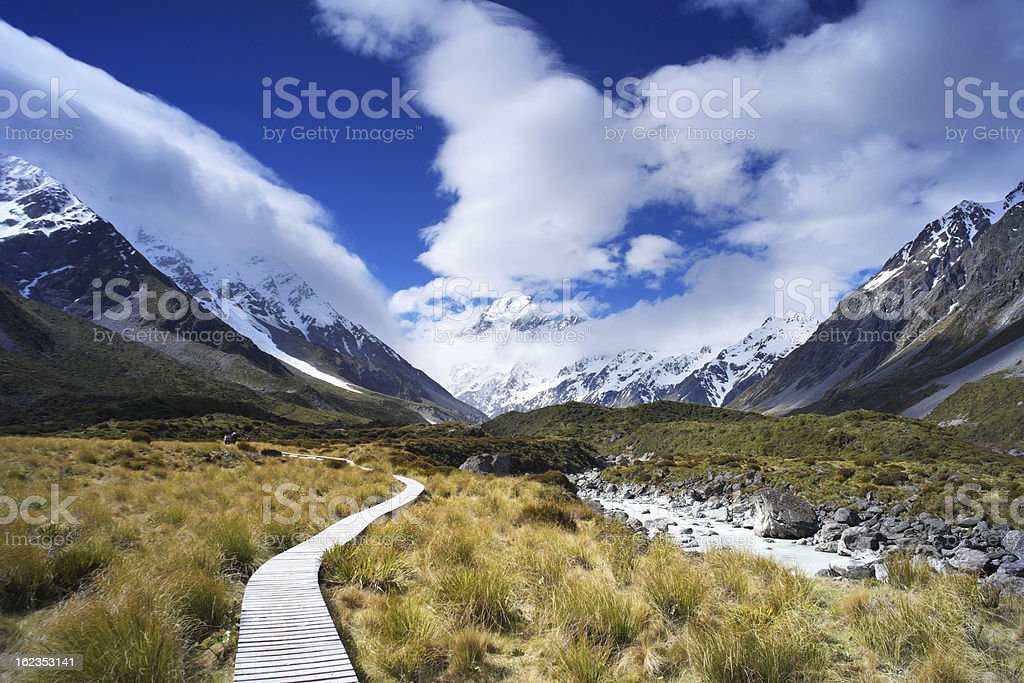 Track To Mt Cook stock photo