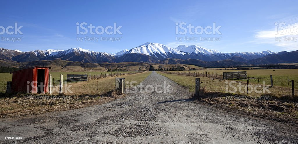 Track To The Southern Alps stock photo