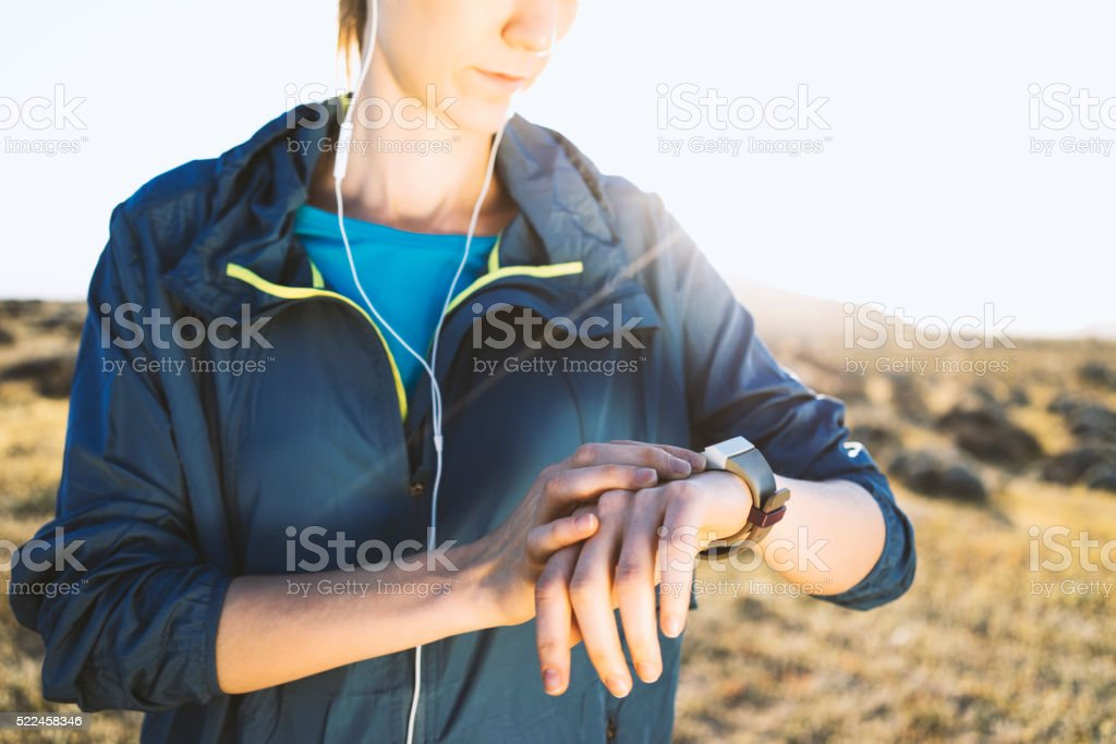 Track your workout stock photo