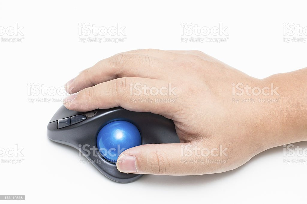 Trackball mouse stock photo