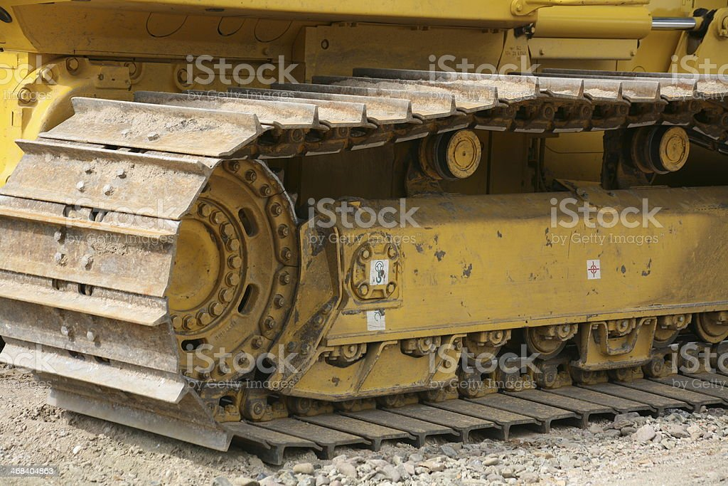 Tracked vehicle on a construction site stock photo