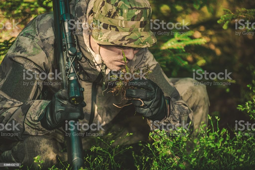 Tracker Looking For Signs stock photo