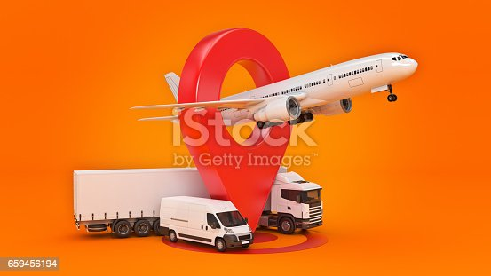 641289780 istock photo GPS tracking. 3d rendering 659456194