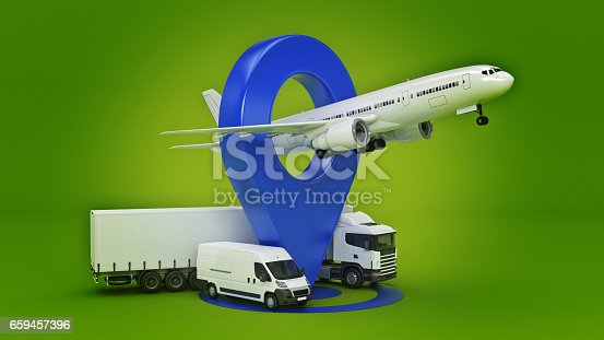 641289780 istock photo GPS tracking. 3d rendering 659457396
