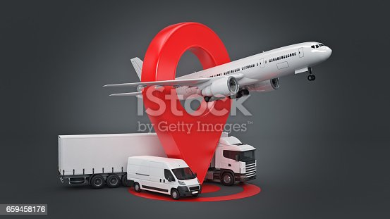 641289780 istock photo GPS tracking. 3d rendering 659458176