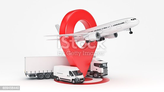 641289780 istock photo GPS tracking. 3d rendering 659458440