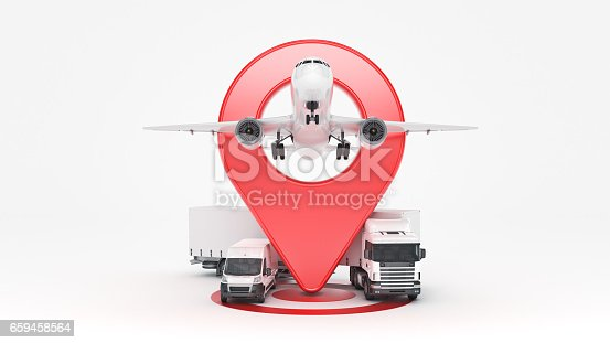 641289780 istock photo GPS tracking. 3d rendering 659458564