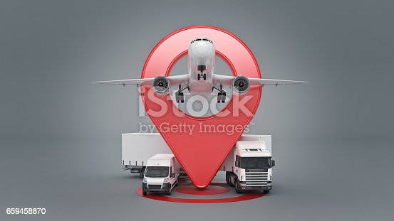 641289780 istock photo GPS tracking. 3d rendering 659458870