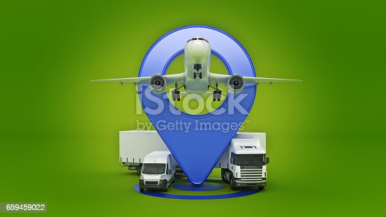 641289780 istock photo GPS tracking. 3d rendering 659459022