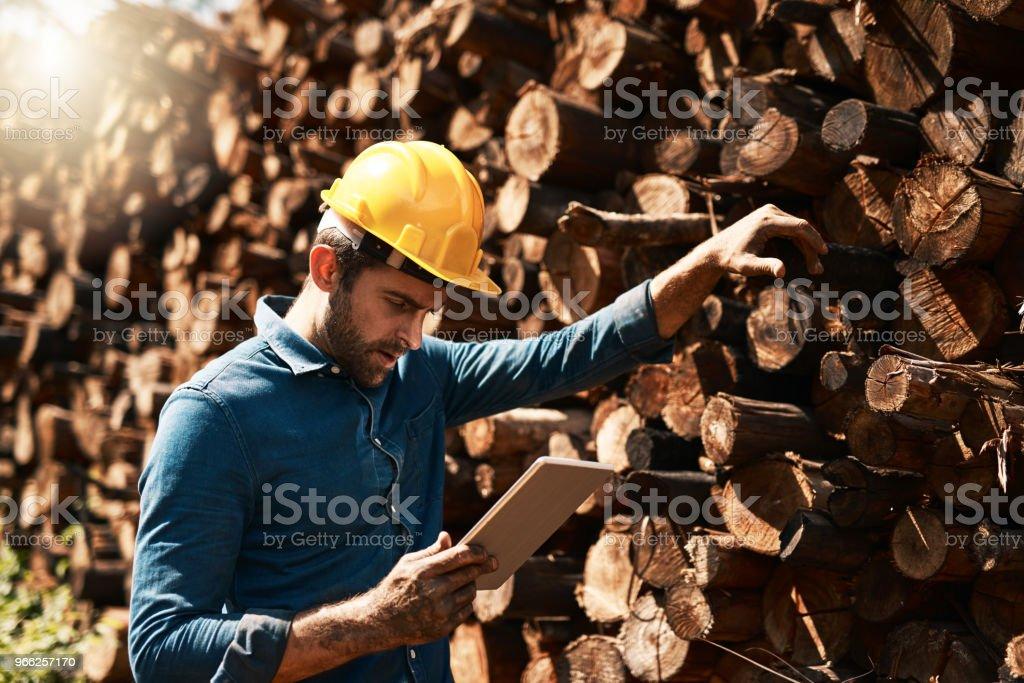 그의 목재 배달 추적 - 로열티 프리 나무 스톡 사진