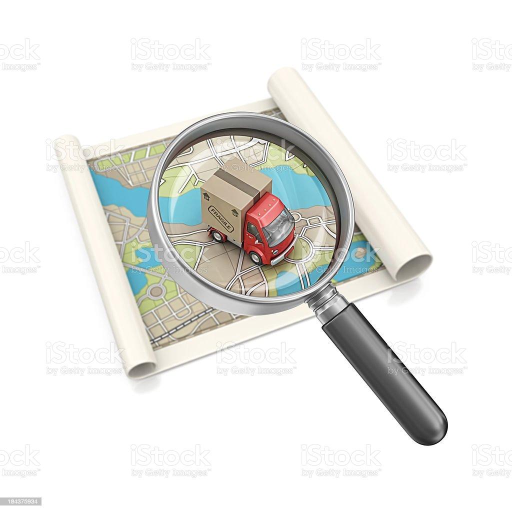 tracking royalty-free stock photo