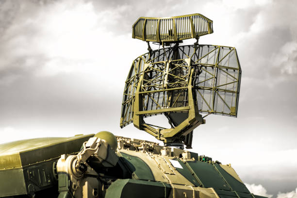Tracking radar of the anti-aircraft combat vehicle missile system Tracking radar of the anti-aircraft combat vehicle missile system. eurasia stock pictures, royalty-free photos & images
