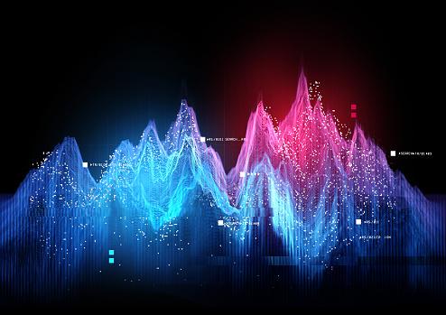 Tracking Statistics Visualization concept. 3D illustration.