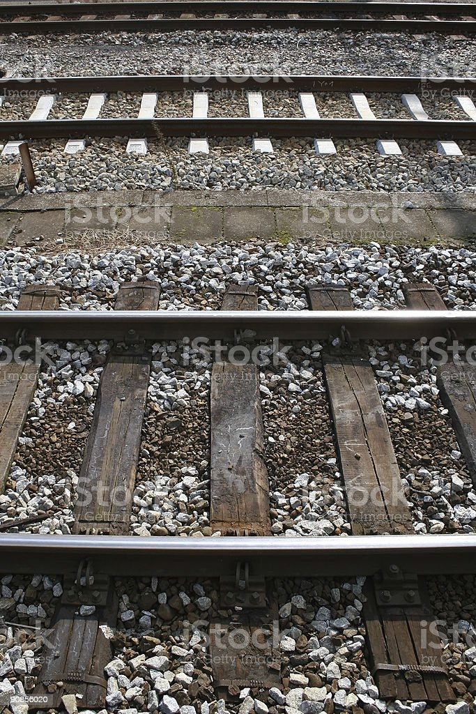 Tracks - brown and white royalty-free stock photo
