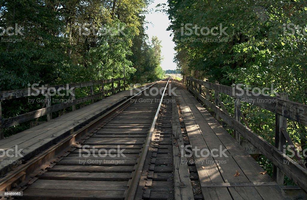 Tracks heading South royalty-free stock photo