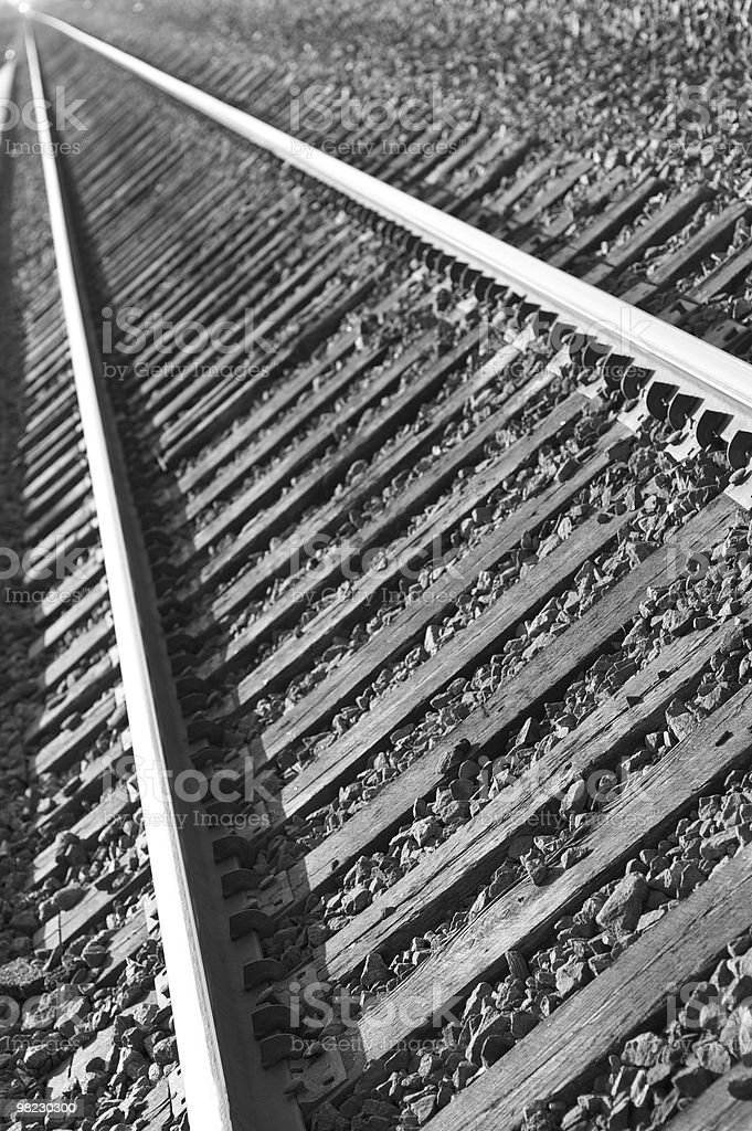 tracks in B&W royalty-free stock photo