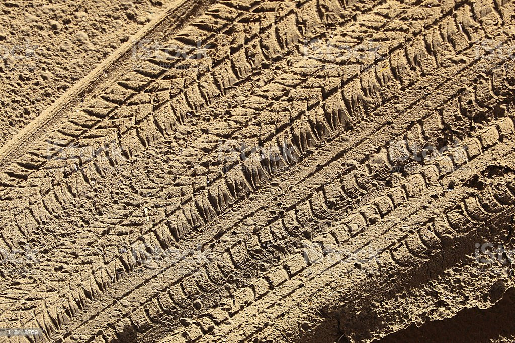Tracks in the sand royalty-free stock photo