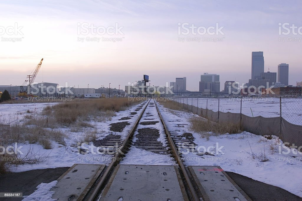 Tracks Into Town royalty-free stock photo