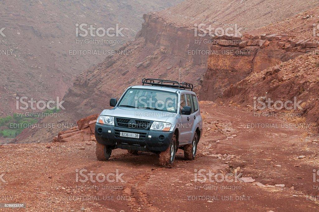 Tracks of the Moroccan Átlas - foto de stock