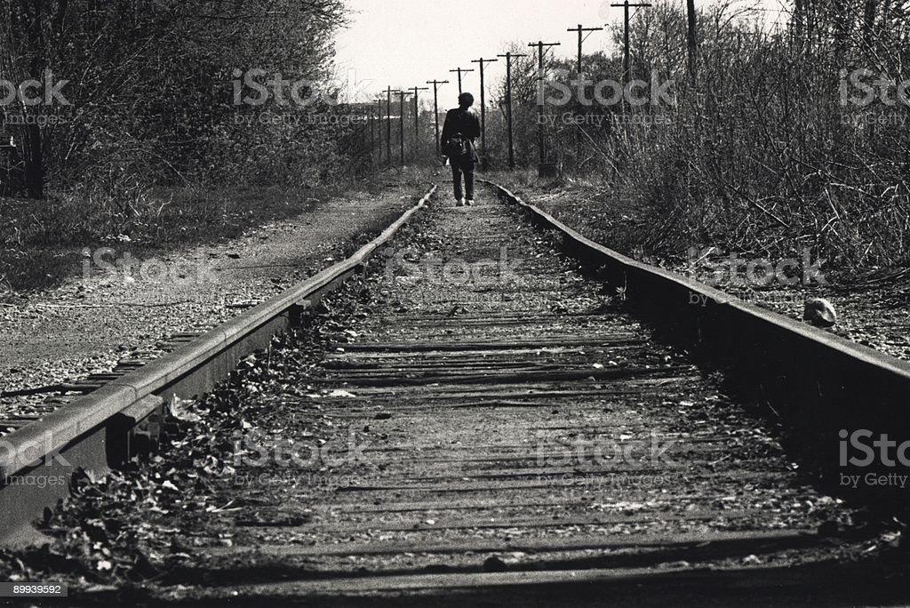 Tracks stock photo