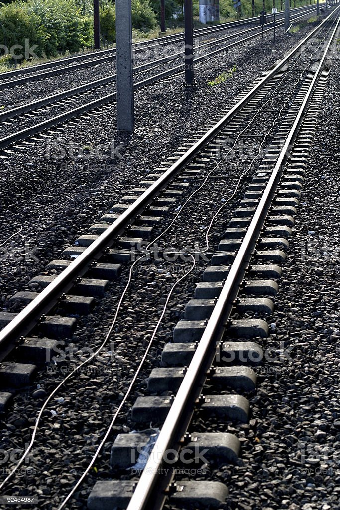 Tracks royalty-free stock photo