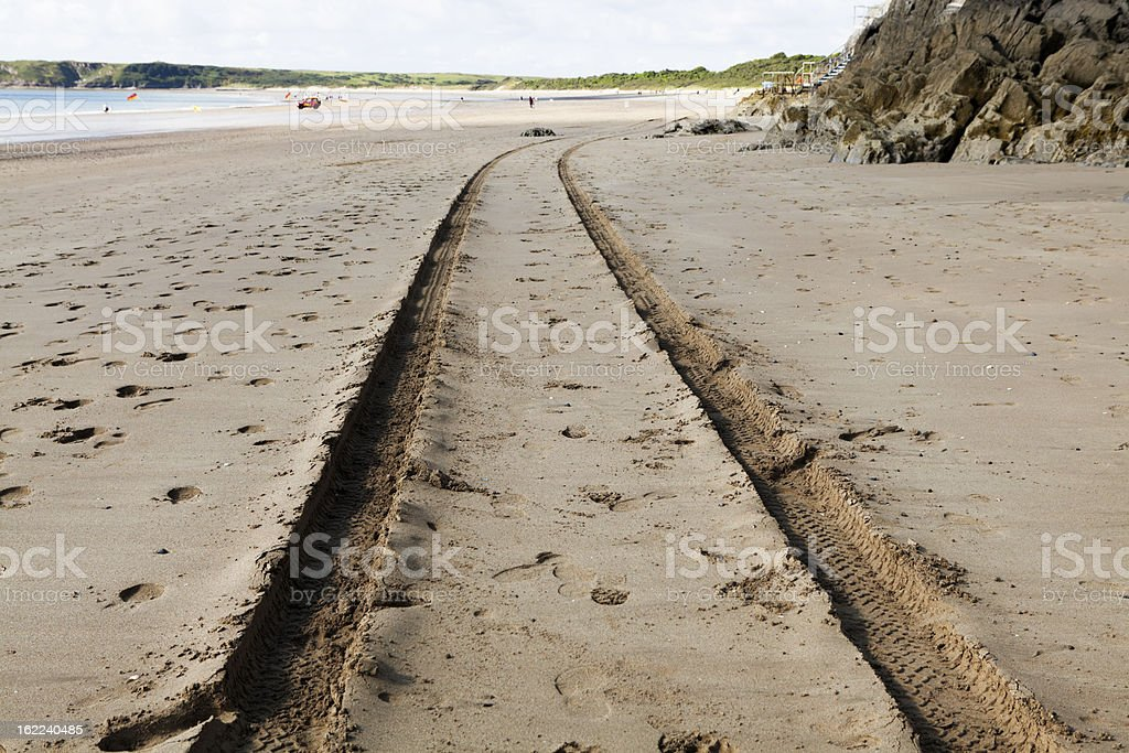 tracks that go around the corner royalty-free stock photo