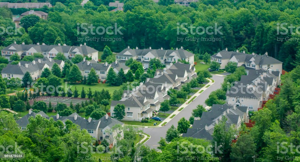 Tract housing development stock photo