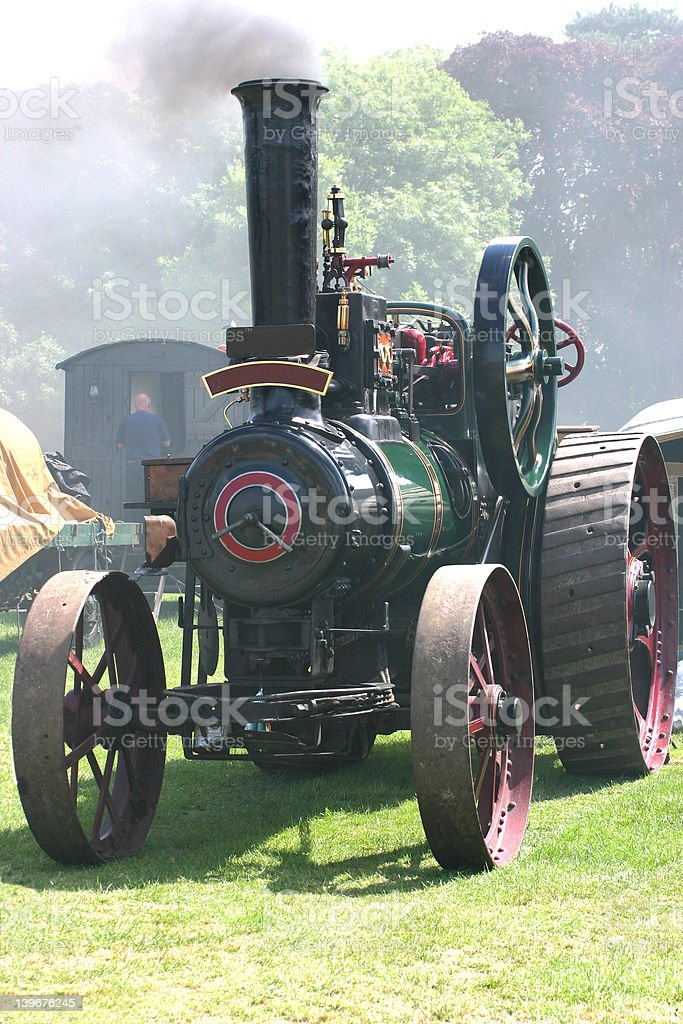 traction steam engine royalty-free stock photo