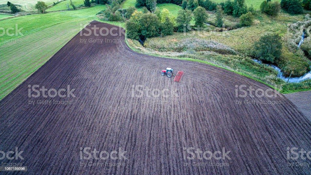 Traktor konst bildbanksfoto