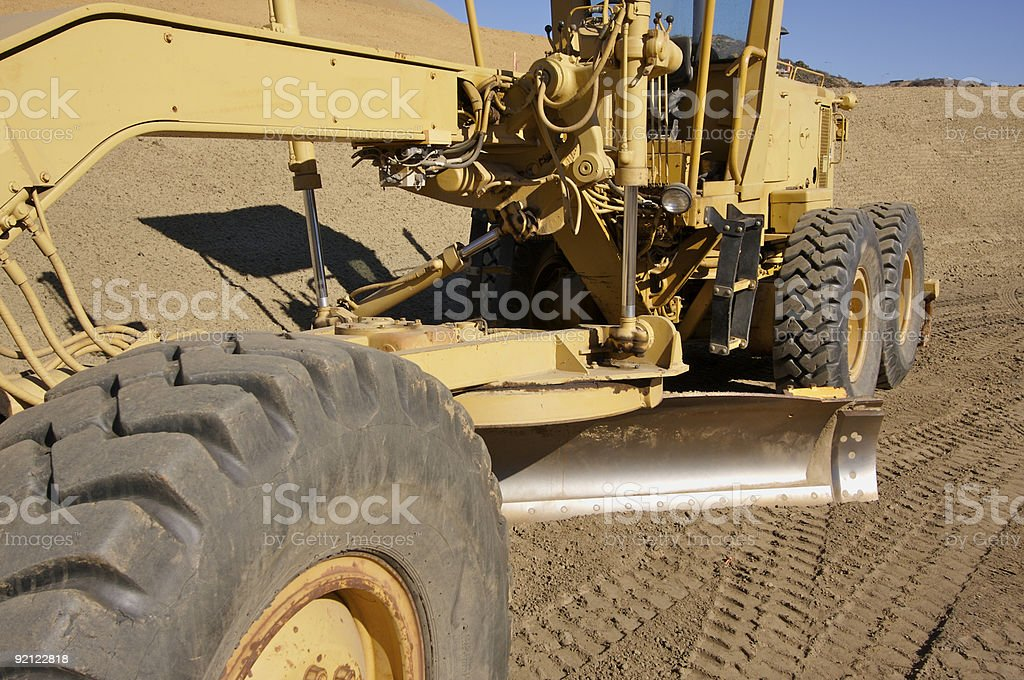 Tractor at a Construction Site Series stock photo