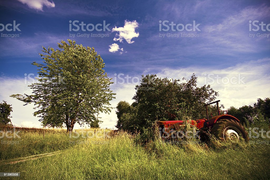 tractor at abandoned farm royalty-free stock photo