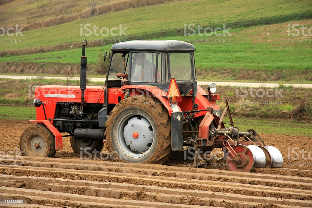 Tractor at work. royalty-free stock photo