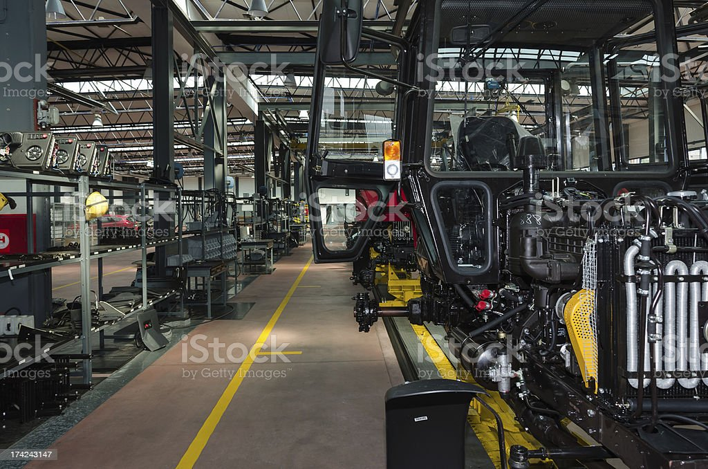 Tractor factory stock photo