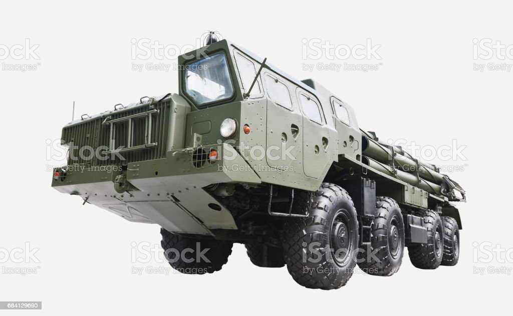 Tractor for ballistic missiles foto stock royalty-free