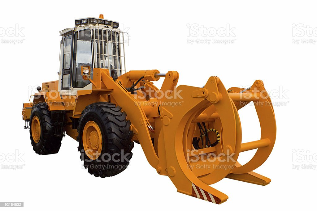 tractor for lumber industry royalty-free stock photo