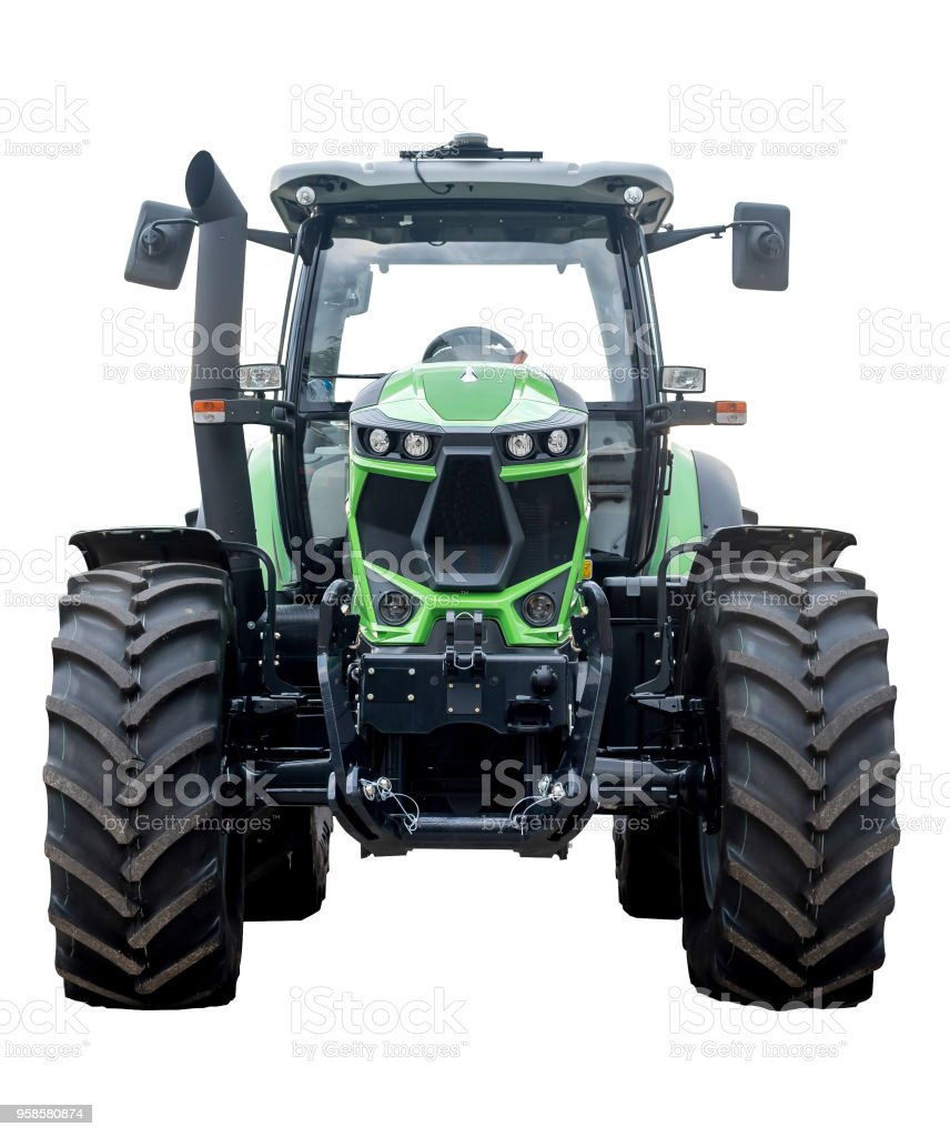Tractor from the front stock photo