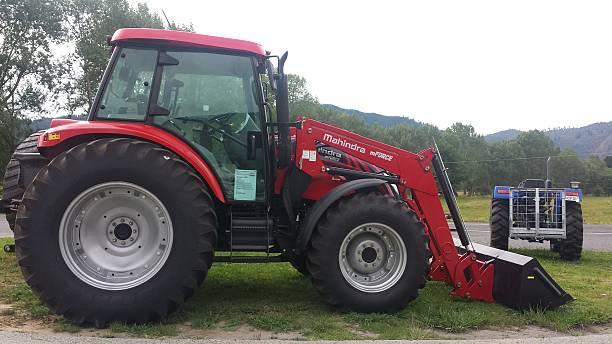Tractor MAHINDRA MFORCE 105P stock photo
