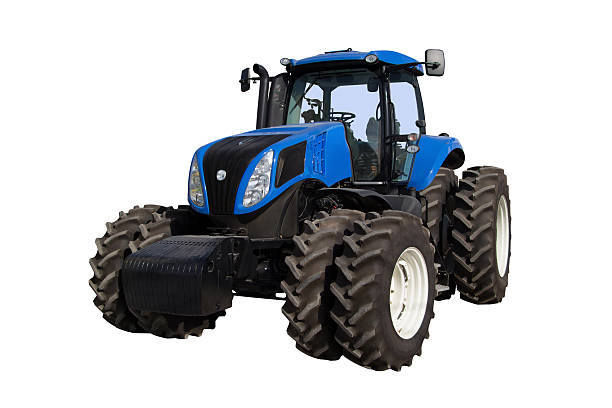 Tractor on a white background stock photo