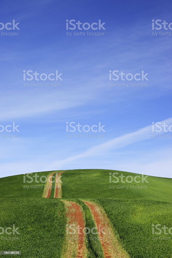 Tractor Path royalty-free stock photo