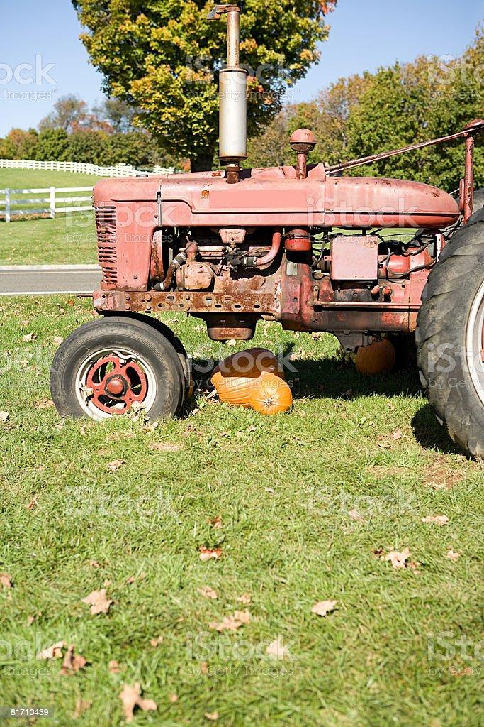 Um tractor foto de stock royalty-free