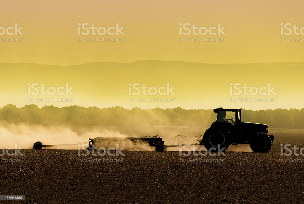 Tractor Silhouette stock photo