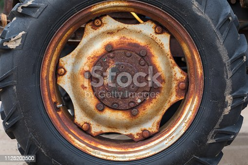 Tractor tire close-up