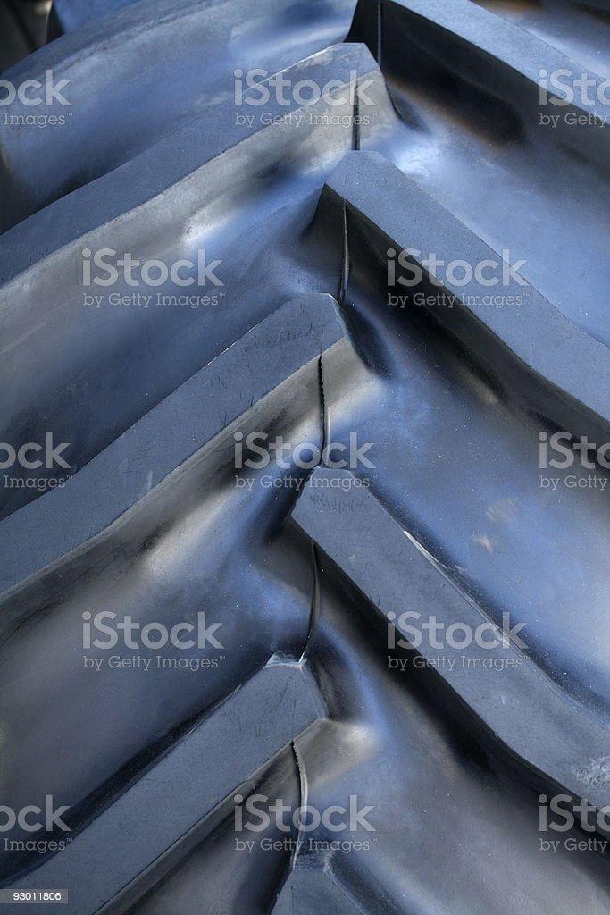 Tractor tire tread background stock photo