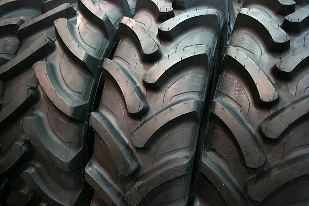 Tractor tires stock photo