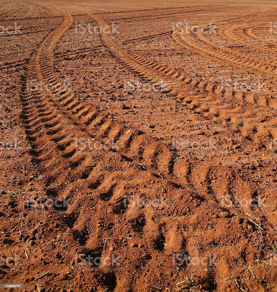Tractor Tracks stock photo