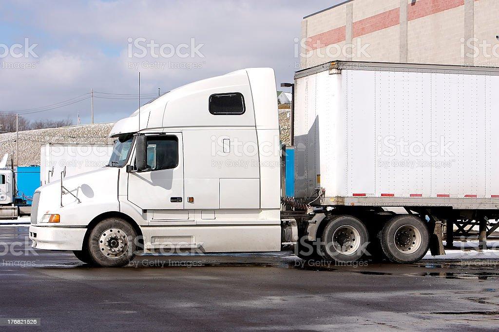 Tractor Trailer Truck stock photo