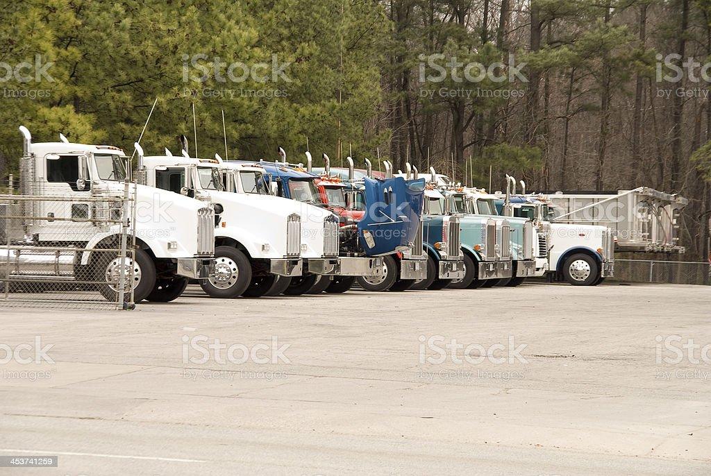 Tractor Trailor stock photo